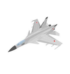 russian jet fighter aircraft painted vector image