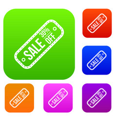 Sale tag 30 percent off set collection vector