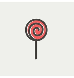 Lollipop thin line icon vector