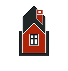 Simple house icon for graphic design mansion vector