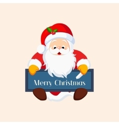 Christmas santa claus with a chalkboard vector