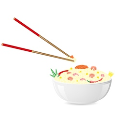 Asian rice seafood vector