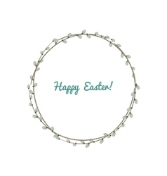 Willow wreath frame vector
