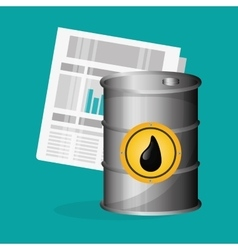 Petroleum design economy and industry design vector