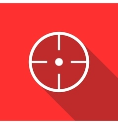 Paintball aim icon flat style vector