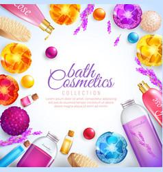 bath cosmetics concept vector image vector image