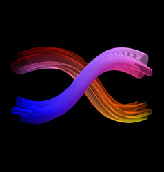 black neon abstract vector image vector image