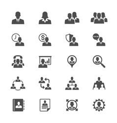 Business flat icons vector image vector image