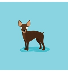 cartoon dog for card design vector image