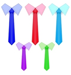 Colorful Ties vector image