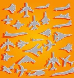 combat aircraft team vector image