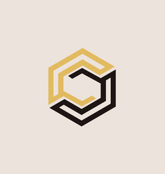 cube polygon logo vector image