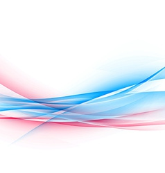 Dynamic two bright color swoosh speed wave vector image