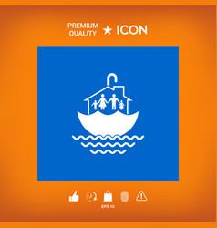 Family home security icon vector