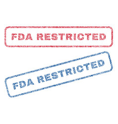 Fda restricted textile stamps vector