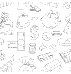Finance and Currency pattern vector image