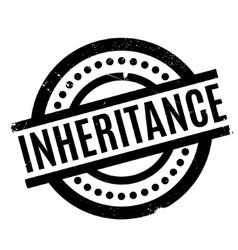 Inheritance rubber stamp vector