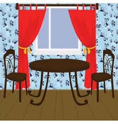 interior with table and chairs vector image