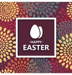 Modern happy easter background vector