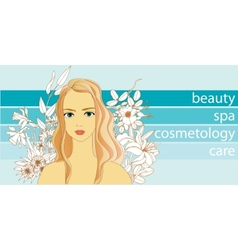 Natural beauty and care vector image