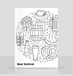 Octoberfest beer festival design vector