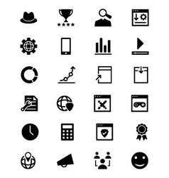 Online marketing icons 6 vector