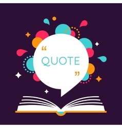 Open Book with Space for Quote vector image vector image