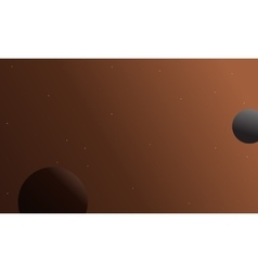 Outer space background with planet landscape vector