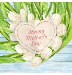 Pink flowers for mothers day EPS 10 vector image vector image