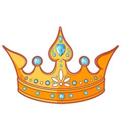 Princess tiara vector image vector image