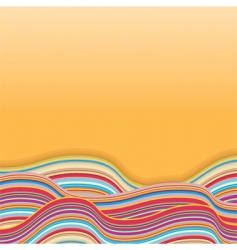 rainbow waves vector image vector image