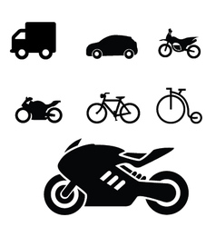 Set of Vehicles icon vector image