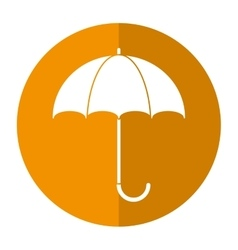 umbrella accessory protect handle shadow vector image vector image