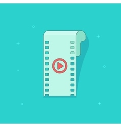 Video icon isolated flat vector image