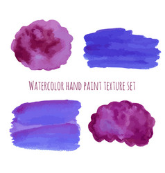 watercolor abstract design elements in violet and vector image vector image