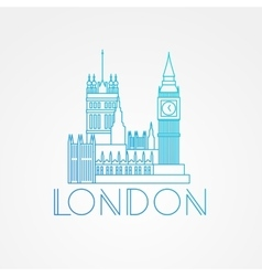 World famous Westminster with Big Ben vector image