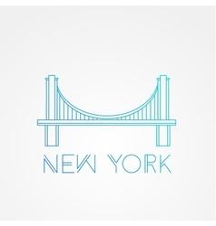 World famous Brooklyn Bridge vector image