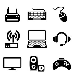 Computer devices icons vector