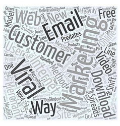 Viral marketing trumps email deliverability word vector