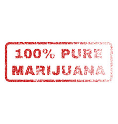 100 percent pure marijuana rubber stamp vector