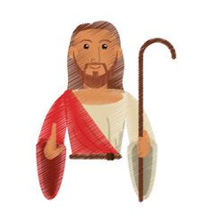 Drawing jesus christ hope design vector