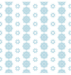 Seamless pattern with blue snowflakes white vector