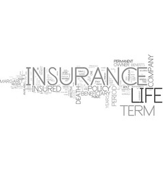 Is term insurance right for you text background vector