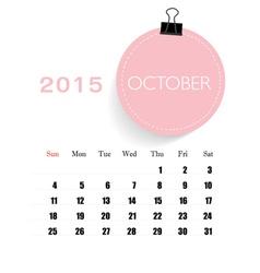 2015 calendar monthly calendar template for vector image vector image