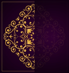 Luxurious Template vector image