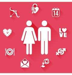Flat Love Concept vector image
