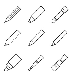 Drawing and writing tool icon vector
