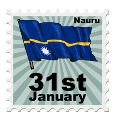 Post stamp of national day of nauru vector