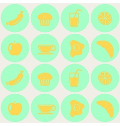 Seamless background with breakfast vector