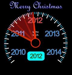 2012 dashboard vector image